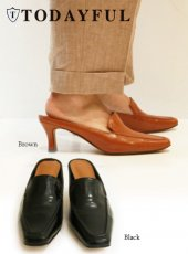 TODAYFUL(トゥデイフル)<br>Square Slide Loafers  18秋冬2【11821039】