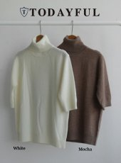 TODAYFUL(トゥデイフル)<br>Cashmere Halfsleeve Knit  18秋冬予約【11820521】 18awpre
