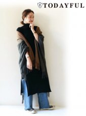 TODAYFUL(トゥデイフル)<br>Piping Wool Gown  18秋冬【11820004】 18awpre