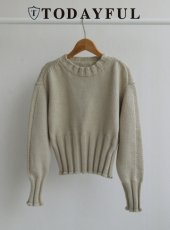 TODAYFUL(トゥデイフル)<br>Widerib Short Knit  18秋冬【11820510】