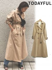 TODAYFUL(トゥデイフル)<br>Over Trench Coat  18秋冬予約【11820003】