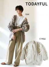 TODAYFUL(トゥデイフル)<br>Cable Handkint Cardigan  19秋冬予約2【11820518】