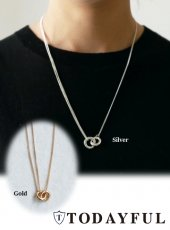 TODAYFUL(トゥデイフル)<br>Double Circle Necklace  18秋冬【11820941】