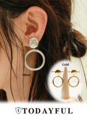TODAYFUL(トゥデイフル)<br>Middle Hoop Earring  18秋冬【11820923】