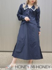 Honey mi Honey (ハニーミーハニー)<br>sailor 2way shirtone-piece  18秋冬【18A-TA-04】受注会