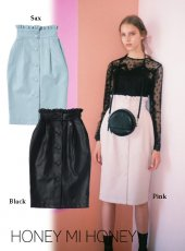 Honey mi Honey (ハニーミーハニー)<br>fakeleather pencil skirt  18秋冬予約【18A-TA-17】受注会