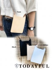 TODAYFUL(トゥデイフル)<br>Cow Leather Pochette  18春夏.【11811075】 iPhone・iPadケース
