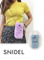 snidel(スナイデル)<br>エコファーiPhoneケース iphone7対応  18秋冬【SWGG184626】 iPhone・iPadケース 18awpresnidel