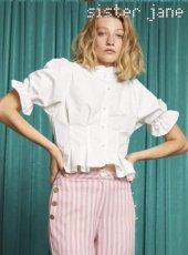 sister jane(シスタージェーン)<br>Cropped Cotton Shirt  18秋冬.【18SJ01BL764】シャツ・ブラウス 18awpresister