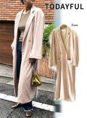 TODAYFUL(トゥデイフル)<br>Velour Gown Coat  18秋冬.【11820015】ジャケット 18awpreTODAYFUL