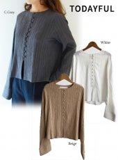TODAYFUL(トゥデイフル)<br>Crape Geogette Shirts  18秋冬.【11820422】シャツ・ブラウス 18awpre