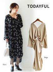 TODAYFUL(トゥデイフル)<br>Back Twist Dress  19春夏2【11820331】フレアワンピー
