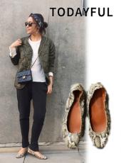 TODAYFUL(トゥデイフル)<br>Python Flat Shoes 19春夏2【11821070】フラットシューズ