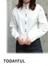 TODAYFUL(トゥデイフル)<br>Bandcollar Stitch Shirts  18秋冬.【11820427】シャツ・ブラウス 18awpre