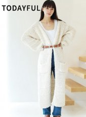 TODAYFUL(トゥデイフル)<br>Boucle Knit Gown  18秋冬.【11820535】ニットアウター