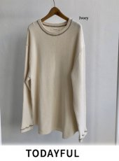 TODAYFUL(トゥデイフル)<br>Doubleface Stitch Pullover  18秋冬.予約【11820616】カットソー 18awpre