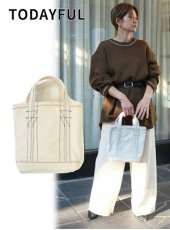 TODAYFUL(トゥデイフル)<br>Stitch Canvas Tote  18秋冬.【11821074】トートバッグ