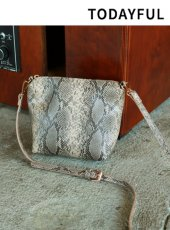 TODAYFUL(トゥデイフル)<br>Python Shoulder Bag  18秋冬.予約【11821071】ハンド・ショルダーバッグ