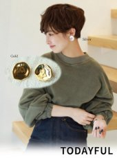 TODAYFUL(トゥデイフル)<br>Nuance Plate Earring  18秋冬.予約【11820901】ピアス・イヤリング