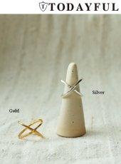TODAYFUL(トゥデイフル)<br>Silver925 Cross Ring  18秋冬.予約【11820956】リング 18awpre