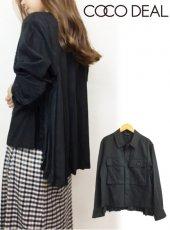 COCODEAL(ココディール)<br>バックプリーツミリタリーシャツ  18秋冬【78514106】シャツ・ブラウス
