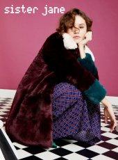 sister jane(シスタージェーン)<br>Mabel Coloublock Fur Coat  18秋冬.【18SJ02CT023】ファー・ムートン 18awpre