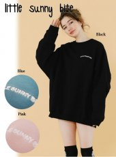 LITTLE SUNNY BITE(リトルサニーバイト)<br>stitched big sweater  18秋冬【LSB-LTOP-146K】ニットトップス 18awpre