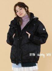 LITTLE SUNNY BITE(リトルサニーバイト)<br>Organdy covered down jaket  18秋冬【LSB-LJK-116K】ジャケット 18awpre