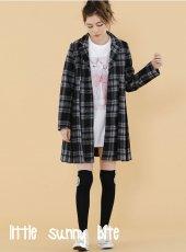 LITTLE SUNNY BITE(リトルサニーバイト)<br>Checker pleats coat  18秋冬【LSB-LJK-117K】 18awpreLITTLE