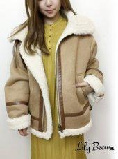 Lily Brown(リリーブラウン)<br>オーバーサイズボンバージャケット  18秋冬.【LWFJ185028】ジャケット 18awpre