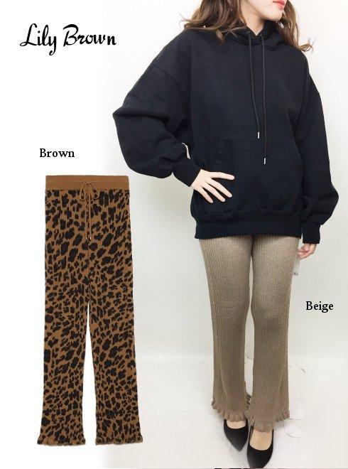 Lily Brown(リリーブラウン)<br>ニットパンツ  18秋冬.【LWNP185143】パンツ 18awpreLily sale
