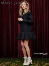 sister jane(シスタージェーン)<br>Good Knight Peplum Dress  18秋冬.【19SJ00DR1016】フレアワンピース クリスマス