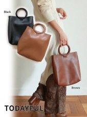 TODAYFUL(トゥデイフル)<br>Circlehandle Leather Bag  19春夏【11911049】ハンド・ショルダーバッグ