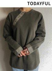 TODAYFUL(トゥデイフル)<br>Vintage Henleyneck Pullover  19春夏【11910621】カットソー