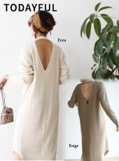 TODAYFUL(トゥデイフル)<br>Thermal Maxi Onepiece  19春夏【11910309】マキシワンピース