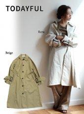 TODAYFUL(トゥデイフル)<br>Nylon Soutiencollar Coat  19春夏【11910001】ジャケット