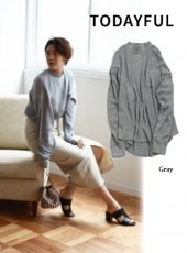TODAYFUL(トゥデイフル)<br>Lowgauge Rib Pullover  19春夏【11910609】カットソー