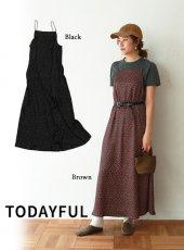 TODAYFUL(トゥデイフル)<br>Satin Dot Dress  19春夏【11910310】マキシワンピース 19ssfs