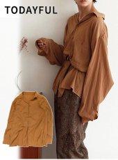 TODAYFUL(トゥデイフル)<br>Satin Jacquard Shirts  19春夏【11910416】シャツ・ブラウス