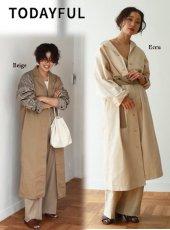 TODAYFUL(トゥデイフル)<br>Vintage Twill Coat  19春夏【11910005】ウールコート