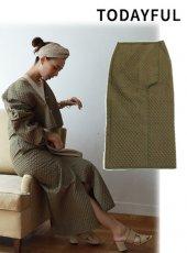 TODAYFUL(トゥデイフル)<br>Linen Quilting Skirt  19春夏【11910806】タイトスカート   19ssfs