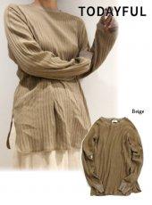 TODAYFUL(トゥデイフル)<br>Branrib Long T-Shirts  19春夏【11910602】Tシャツ
