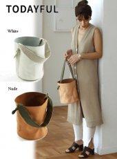 TODAYFUL(トゥデイフル)<br>Leather Basket Bag  19春夏予約【11911019】ハンド・ショルダーバッグ