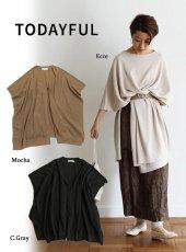 TODAYFUL(トゥデイフル)<br>Linen Knit Poncho  19春夏【11910506】マフラー・ストール