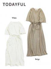 TODAYFUL(トゥデイフル)<br>Knit Rough Dress  19春夏【11910311】フレアワンピース