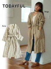 TODAYFUL(トゥデイフル)<br>Linen Gown Coat  19春夏【11910002】ジャケット