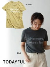 TODAYFUL(トゥデイフル)<br>Vintage Letter T-Shirts  19春夏【11910608】Tシャツ