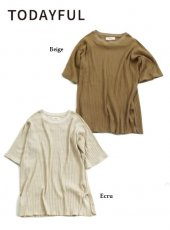 TODAYFUL(トゥデイフル)<br>Bran Rib T-Shirts  19春夏【11910603】Tシャツ