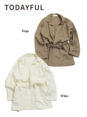 TODAYFUL(トゥデイフル)<br>Tailored Linen Jacket  19春夏予約【11910105】ジャケット