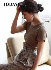 TODAYFUL(トゥデイフル)<br>Vintage Rib T-Shirts  19春夏【11910619】Tシャツ